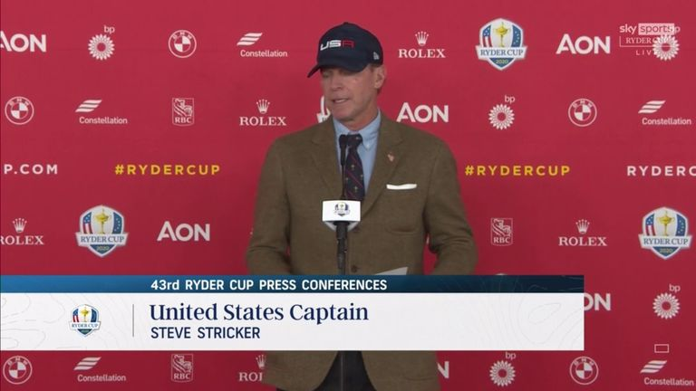 Stricker explains why his side face a tough test from Team Europe this week and gives his reaction to the foursomes matches