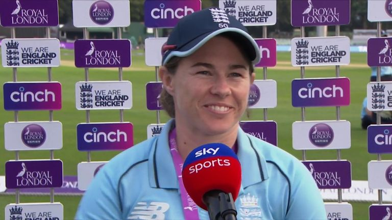 Tammy Beaumont was named player of the match after scoring a sensational 102 in England's victory over New Zealand in the fifth ODI