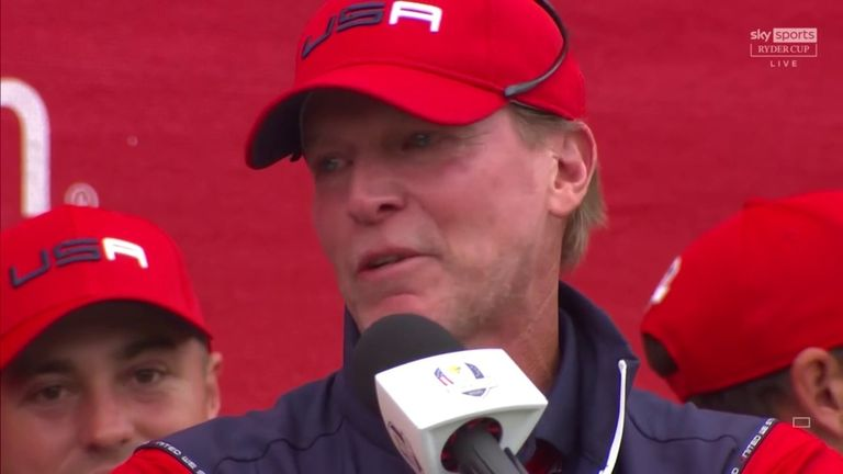 Steve Stricker compared guiding Team USA to a record-breaking Ryder Cup victory at Whistling Straits to winning a major and explains how it felt to captain the American side