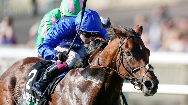 Oisin Murphy riding Benbatl to victory in the Joel Stakes