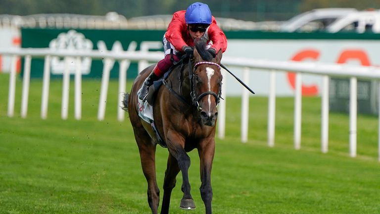 Frankie Dettori riding Inspiral to victory at Doncaster