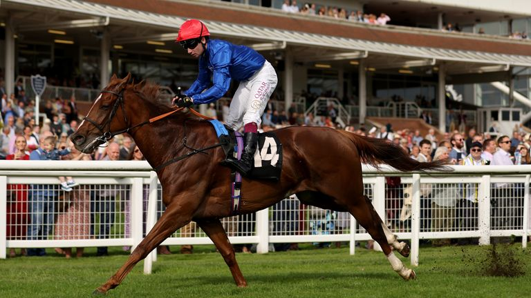 Silent Escape ridden by Oisin Murphy wins the Dubai Duty Free Cup Stakes
