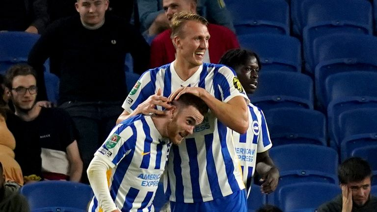 Aaron Connolly's goals were his first in a Brighton shirt since January 2