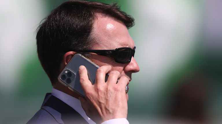 Dettori is waiting on a call from trainer Aidan O'Brien (pictured)