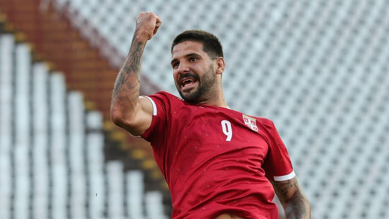 Alaksandar Mitrovic continued his fine run of form for Serbia