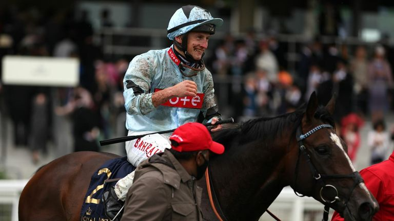 Alenquer and Tom Marquand after winning at Royal Ascot
