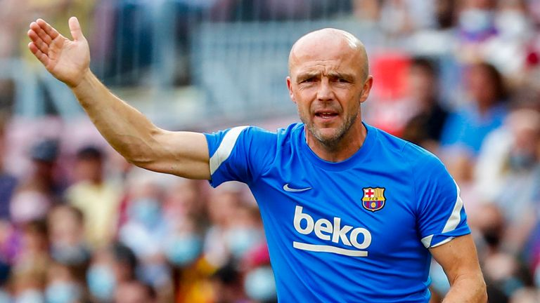 Barcelona assistant head coach Alfred Schreuder took charge against Levante amid Ronald Koeman's two-match touchline ban