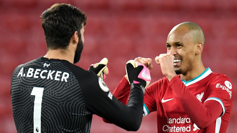 Alisson and Fabinho, along with Roberto Firmino, were not released by Liverpool for international duty