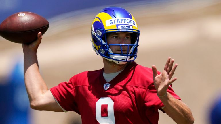 Los Angeles Rams quarterback Matthew Stafford discussed moving on from Detroit, learning the Sean McVay offense, and his new teammates