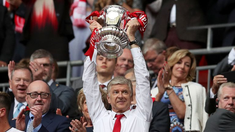 Arsene Wenger's final trophy as Arsenal manager was the 2017 FA Cup win over Chelsea