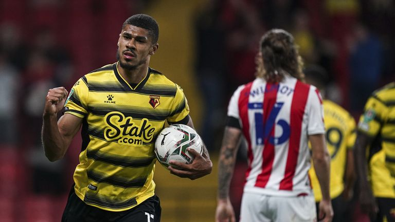 Ashley Fletcher netted for the second round in succession to pull Watford level after half-time