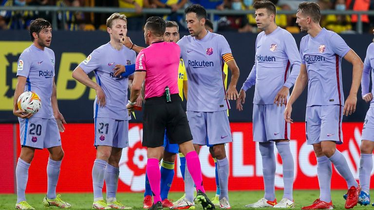 Ronald Koeman handed two-match touchline ban following red card during Barcelona's La Liga match with Cadiz | Football News | Sky Sports