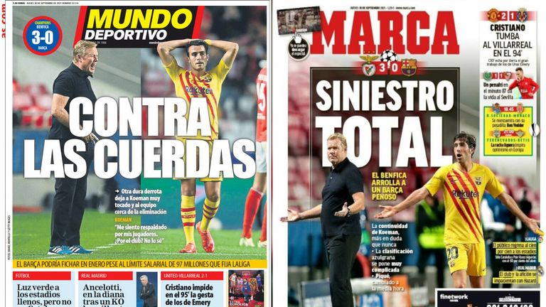 Mundo Deportivo: 'Against the ropes' | Marca call it a 'total calamity'
