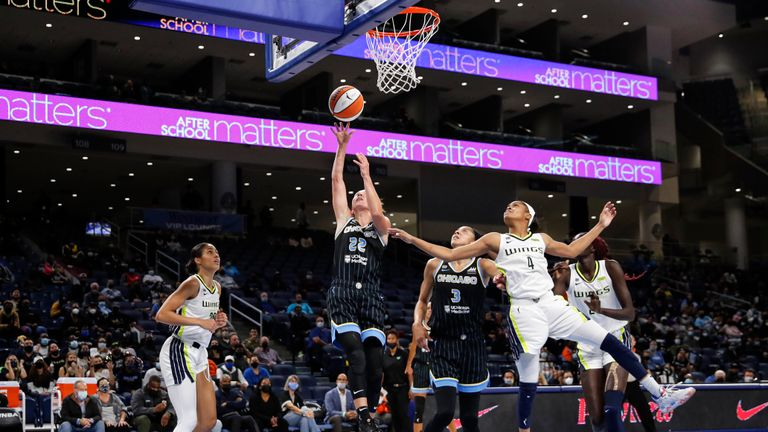 Highlights of the first playoff round game between Dallas Wings and Chicago Sky in the WNBA.