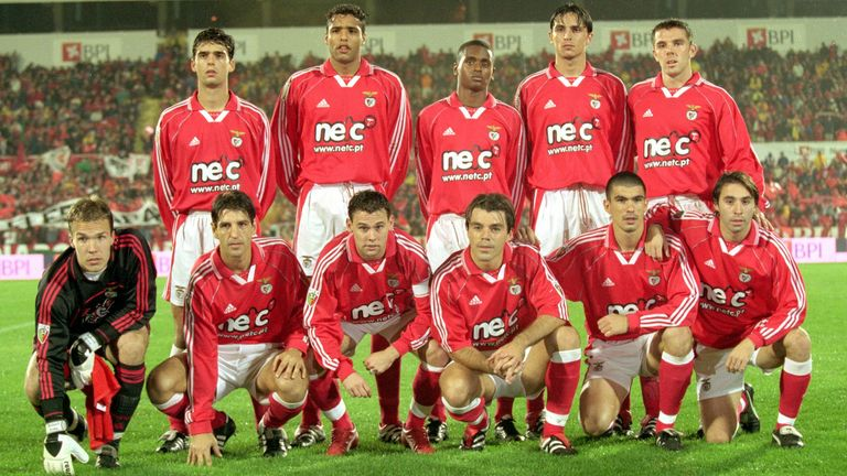 The Benfica team that beat Sporting Lisbon 3-0 in December 2000