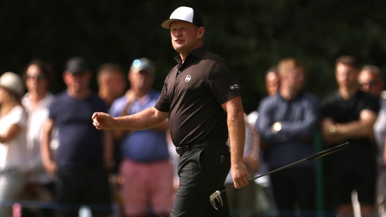 Jamie Donaldson was happy with his afternoon's work at Wentworth