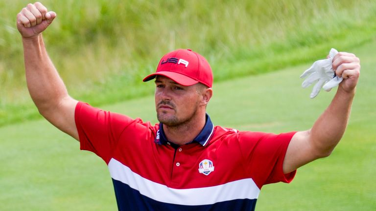 Bryson DeChambeau ended the week in unbeaten in Team USA's comprehensive Ryder Cup victory