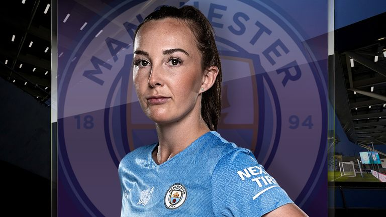 Watch Caroline Weir's Man City take on Arsenal in the WSL this Sunday, live on Sky