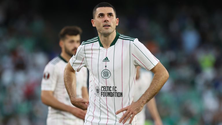 Celtic's Tom Rogic looks on during a UEFA Europa League match between Real Betis and Celtic at the Benito Villamarin Stadium
