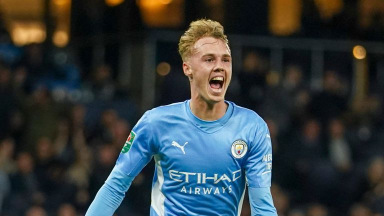 Cole Palmer scored his first goal for Manchester City in their 6-1 victory over Wycombe