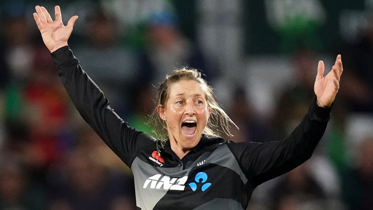 New Zealand captain Sophie Devine took two wickets and hit 50 as her side overcame England at Hove to level their T20I series at 1-1