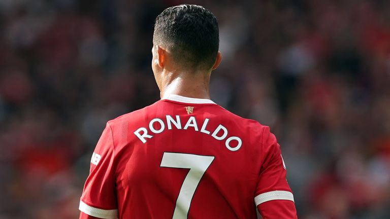 Cristiano Ronaldo during the Premier League match at Old Trafford
