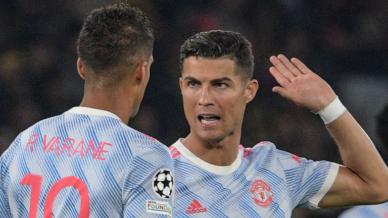 Cristiano Ronaldo and Raphael Varane