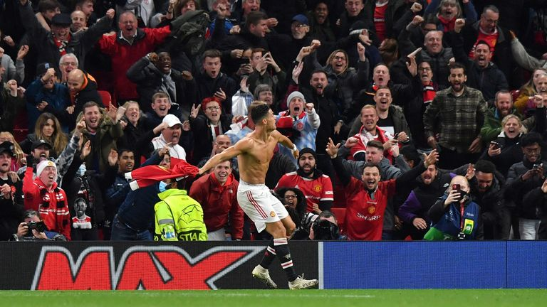 Cristiano Ronaldo celebrates against Villarreal