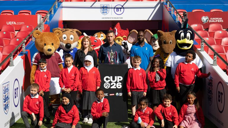 The CUP26 tournament was launched at Wembley Stadium on Tuesday