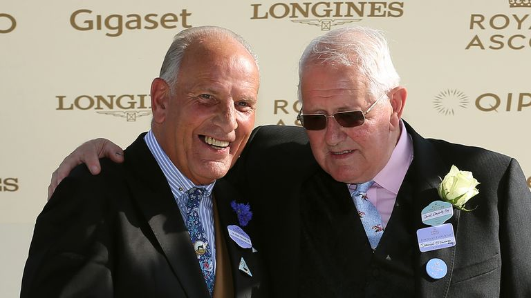 Elsworth is presented with his trophy after winning the Duke of Edinburgh Stakes with Dash of Spice at Royal Ascot in 2018
