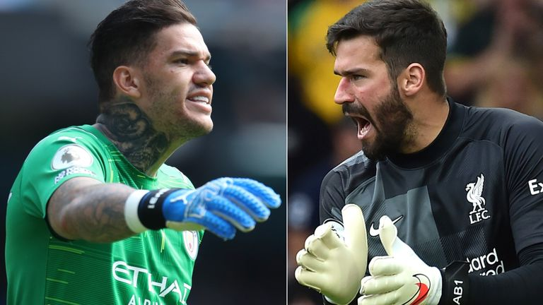 Getty: Premier League goalkeepers Ederson and Alisson