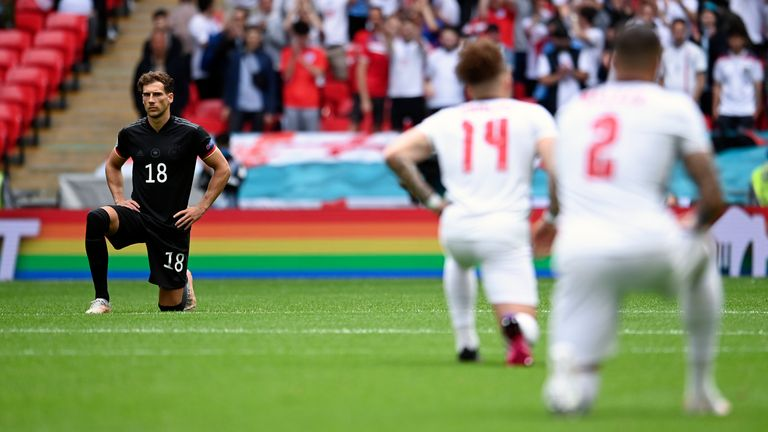 AP - England take knee against Germany at Euro 2020