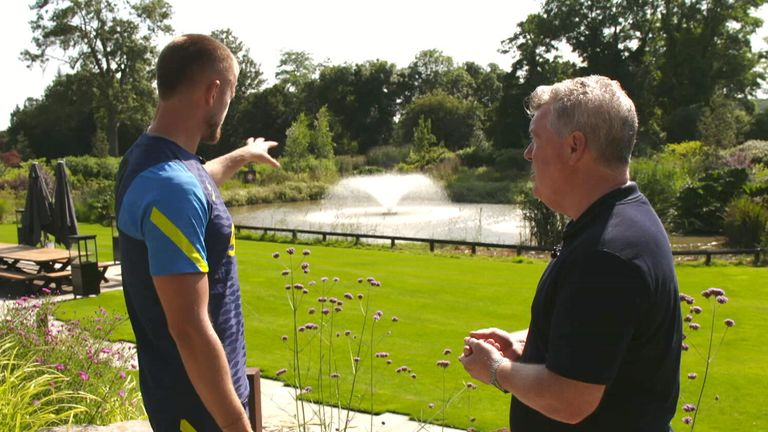 The lake and fountain in the background is used with recycled water from the training ground campus