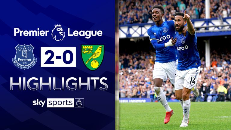 Everton v Norwich highlights