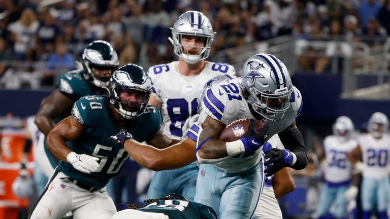 Ezekiel Elliott's best plays from his 2-touchdown night against the Philadelphia Eagles from Week 3.