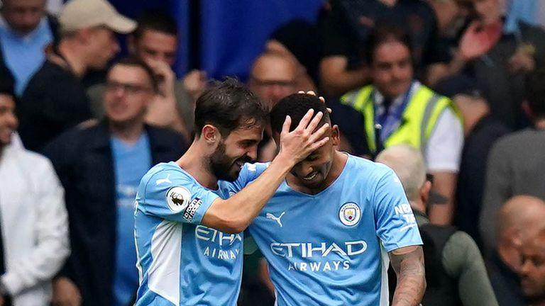 PA - Gabriel Jesus celebrates scoring against Chelsea