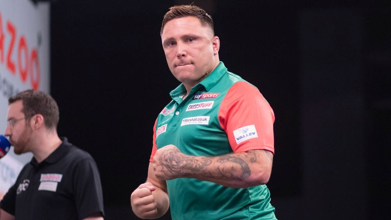 Gerwyn Price and Wales started their defence of the World Cup of Darts title with an impressive victory over Finland (Kais Bodensieck,/PDC Europe)