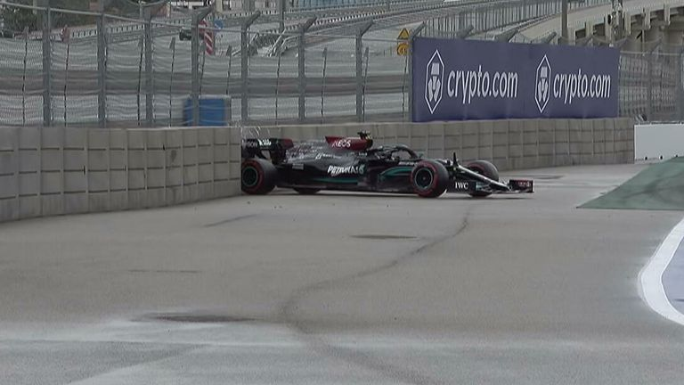 Lewis Hamilton has a qualifying to forget after hitting the wall twice ahead of the Russian GP.