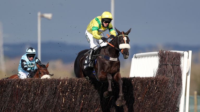 Happygolucky and David Bass on their way to victory at Aintree in April