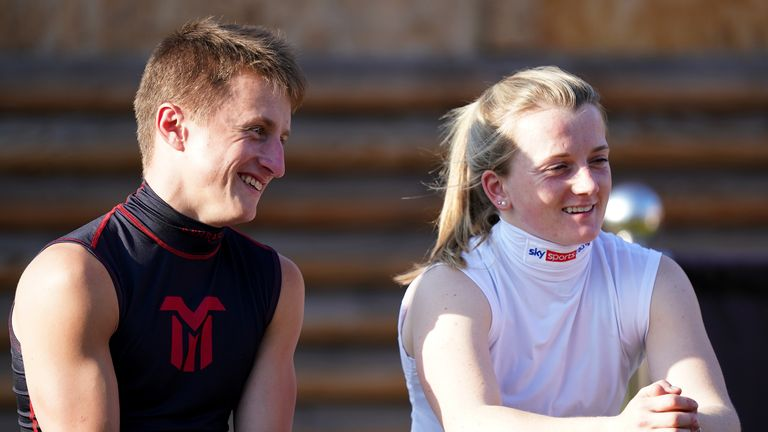 Doyle and Tom Marquand watch on at Doncaster on day one of the St Leger Festival