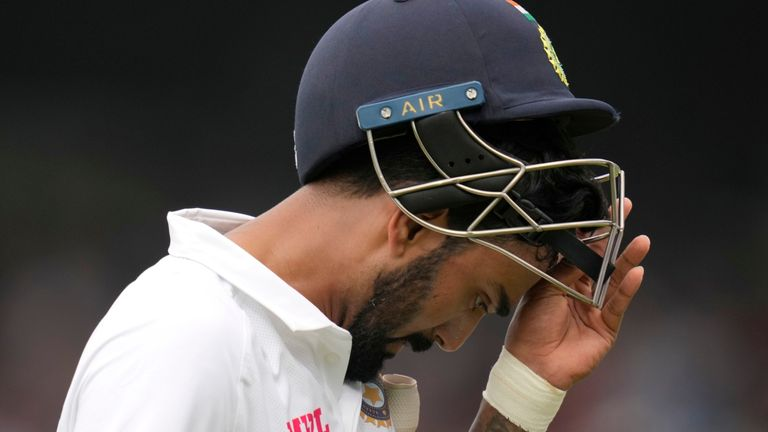 India batsman KL Rahul was unhappy with his dismissal in the fourth Test against England
