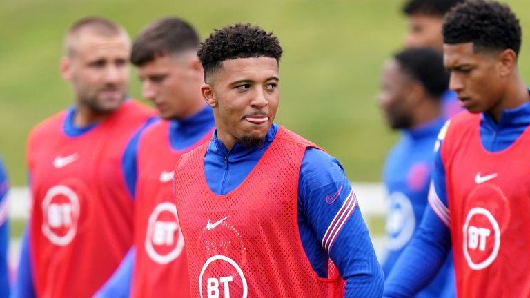 Jadon Sancho will miss England's World Cup qualifiers against Andorra and Poland through injury