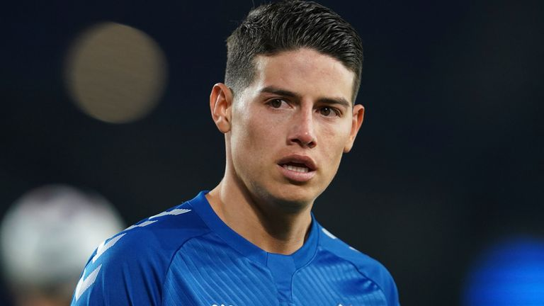 James Rodriguez joined Everton on an initial two-year deal in September 2020