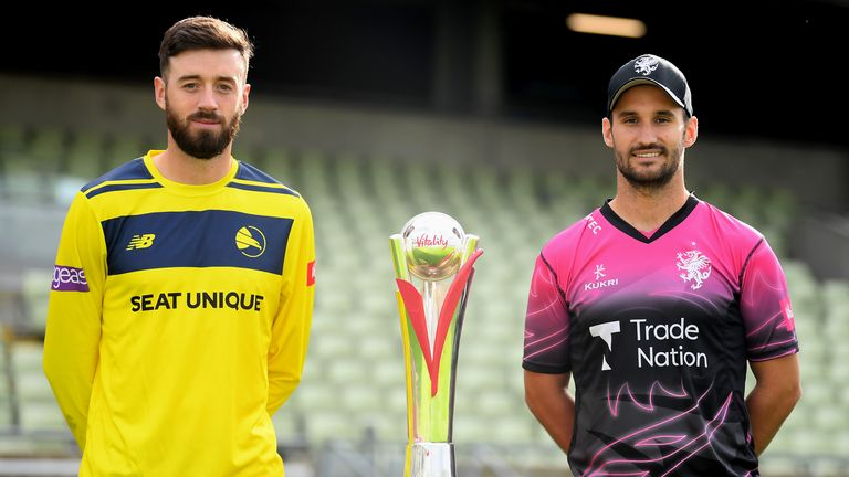 James Vince's Hampshire will take on Lewis Gregory's Somerset in the opening semi-final on Saturday