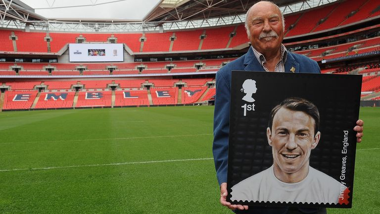 Jimmy Greaves during the Royal Mail Stamp Launch at Wembley Stadium on May 8, 2013 in London, England.