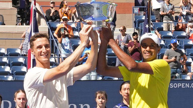Joe Salisbury and Rajeev Ram claimed the US Open men's doubles title at Flushing Meadows (Darren Carroll/USTA via AP)