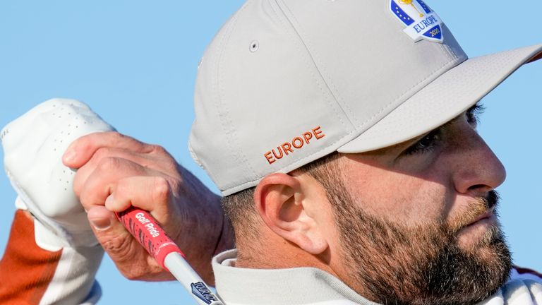 Jon Rahm has won 2.5 points for Europe during the first two days of the Ryder Cup