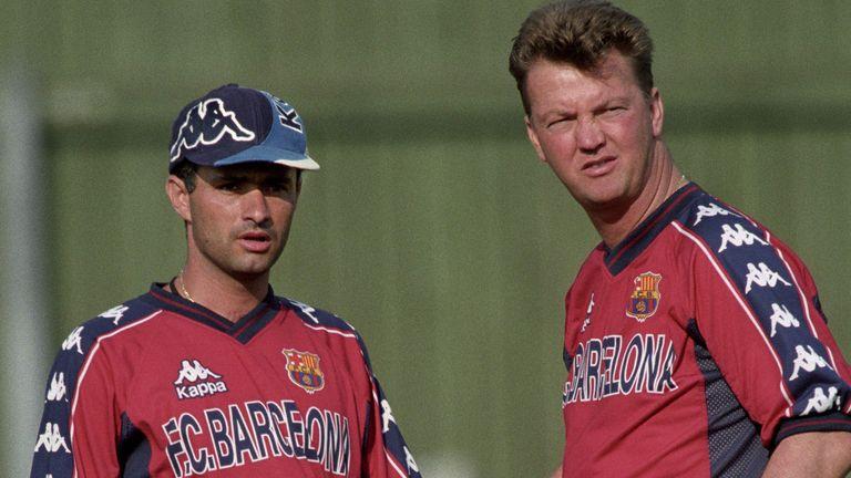 Jose Mourinho worked on Louis van Gaal's staff at Barcelona
