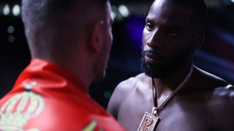 Lawrence Okolie and Dilan Prasovic Weigh In ahead of their WBO Cruiserweight World Title fight tomorrow night at the Tottenham Hotspur Stadium in London.24 September 2021.Picture By Mark Robinson Matchroom Boxing