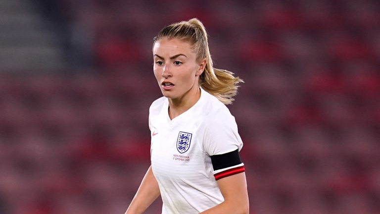 England's Leah Williamson during the UEFA Qualifier match at St Mary's, Southampton. Picture date: Friday September 17